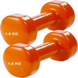 Vinyl dumbells aerobic set 1,5 kg