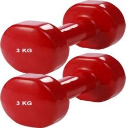 Vinyl dumbells aerobic set 3 kg