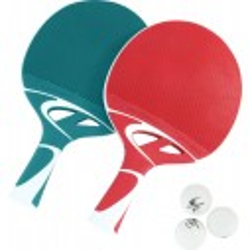 Cornilleau Tacteo duo pak tafeltennis bat set rood/groen