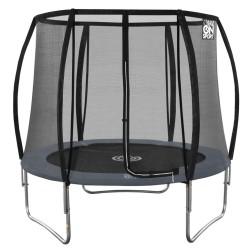 244 cm Mega Pro trampoline met net