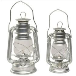 Petroleum Lantaren Olie Lamp Tin / Zink 28cm