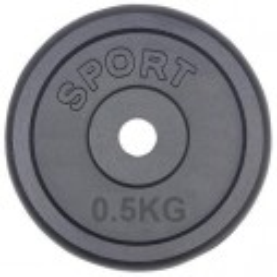 0,5 kg gewichten 30mm gietijzer halterschijven