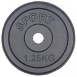 1,25 kg gewichten 30mm gietijzer halterschijven