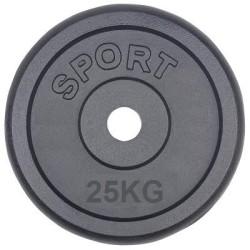 25 kg gewichten 30mm gietijzer halterschijven